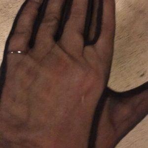 Accessories - Black silk high gloves